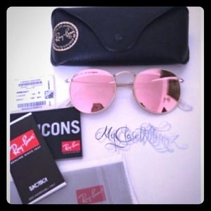 Ray-Ban Round Metal Pink Rb3447 Sunglasses lile